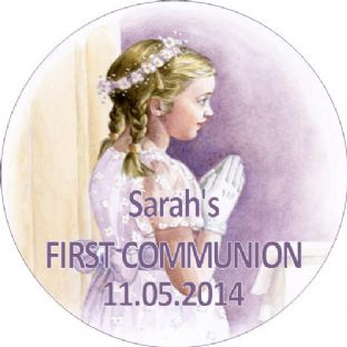 Personalised Girl Communion Stickers Design 7
